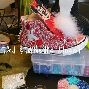 Minnie mouse inspired custom converse