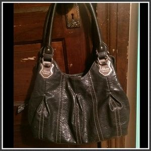 Genna De Rossi Handbags - Genna De Rossi Handbag - Black w/ Silver Accents