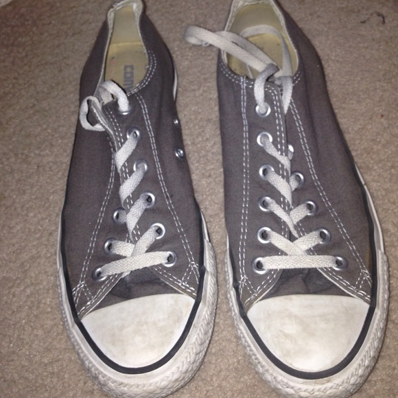 65 off converse shoes gray converse from kaleigh 39 s - Graue converse ...