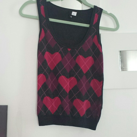 68% off H&M Sweaters - Heart Argyle Sweater Vest from Assunta's ...