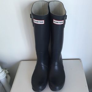 Navy Blue Hunter Boots