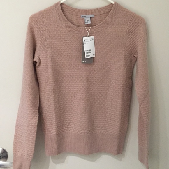 New pink cashmere sweater