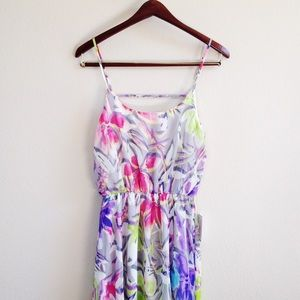 | new | grey floral dress