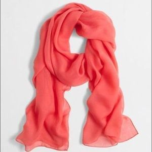 j. crew // NWT lightweight scarf • coral