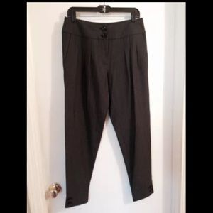 MICHAEL KORS Black Pleated Tapered Trousers 6