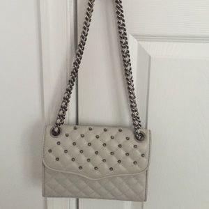 Rebecca Minkoff Quilted Studded Gray Handbag