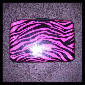 Pink Zebra Card Case