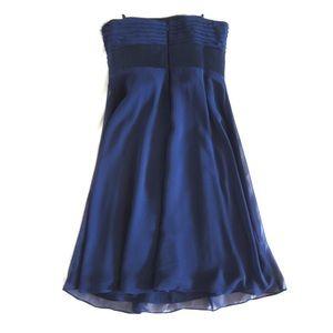 Ann Taylor Dresses - Kay Unger Ann Taylor Blue Strapless Chiffon Dress