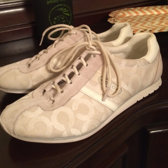 84 coach shoes white pair of coach shoes from