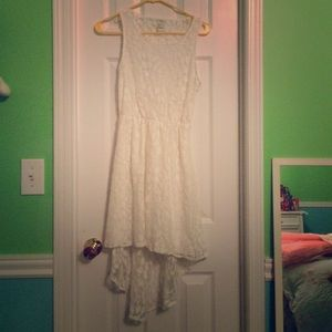 Forever 21 white lace dress, size S
