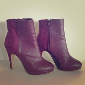 H&M Boots - Maroon H&M Booties