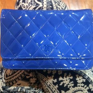 Chanel WOC Classic Patent Leather Quilted