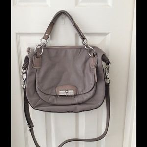 Coach Kristin pink/silver leather satchel
