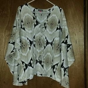 Vince Camuto poncho style blouse