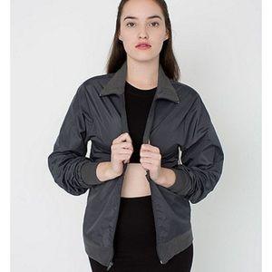 American Apparel Outerwear - Black American Apparel Windbreaker