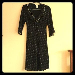 J. Jill Dresses & Skirts - J. Jill - Gorgeous Black Dress - tiny flowers