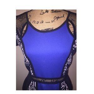 Dresses - Blue midi dress