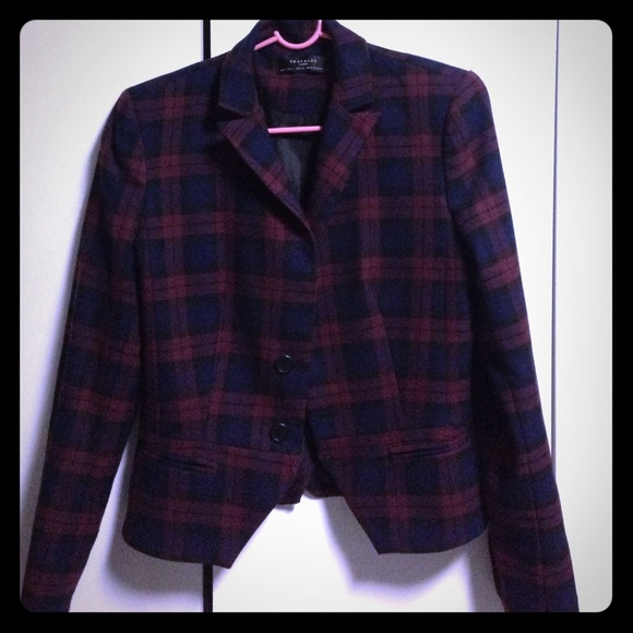 zara new plaid zara blazer from lisa 39 s closet on poshmark. Black Bedroom Furniture Sets. Home Design Ideas