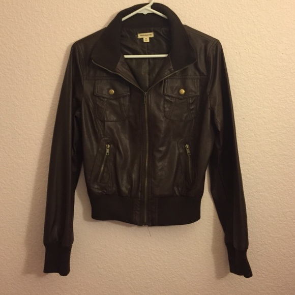 40% off Zenana Outfitters Jackets u0026 Blazers - Brown Leather Jacket from Caitlinu0026#39;s closet on Poshmark