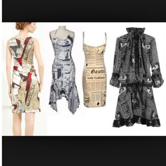 189efdfa Dior Dresses & Skirts - Vintage John Galliano newspaper print tunic/dress