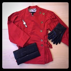2.HP Marc by Marc Jacobs Red Origami Jacket