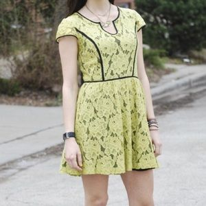 Kensie neon lace dress.