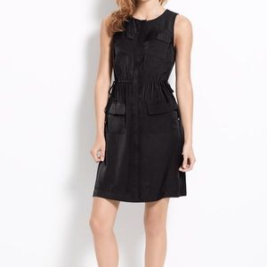Black, Ann Taylor sleeveless shirt dress