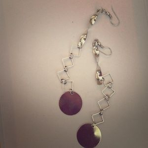 Jewelry - Greek silver dangle earrings