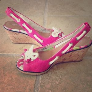Sperry Top-Sider Shoes - NEW pink Sperry wedges