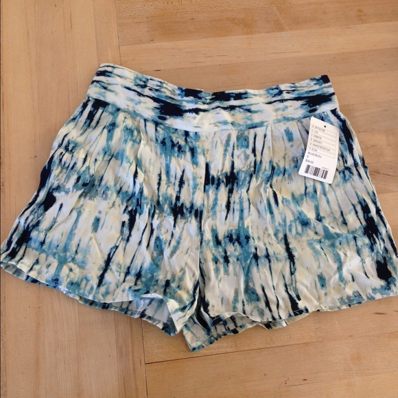 23% off Urban Outfitters Pants - Blue Tie Dye Flowy Shorts from ...