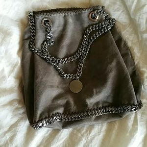 Authentic pewter Stella McCartney bucket bag