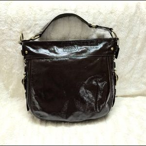 COACH Patent Large tote Zoe brown-12776