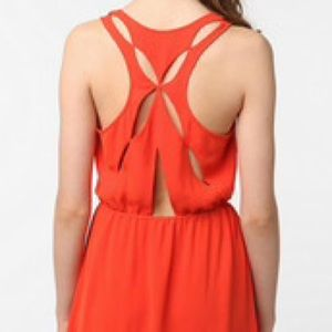 Silence &Noise Orange Dress from Urban Outfitters