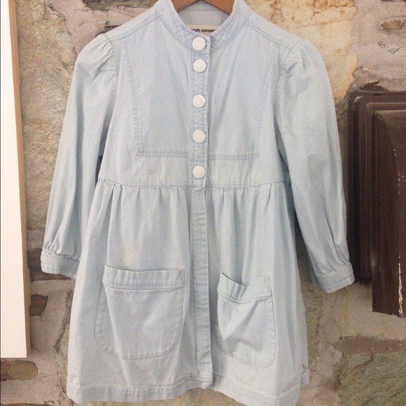 French Connection denim baby doll blouse sz 4