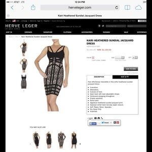 Herve Leger Dresses & Skirts - Auth. Herve Leger Kairi Jacquard Dress Small