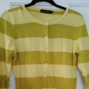 3/4 Sleeve Limited Striped Cardigan
