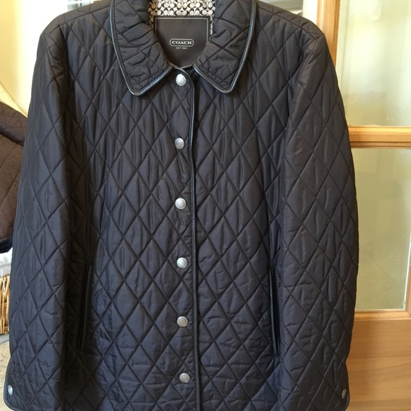 79% off Coach Jackets & Blazers - 💯 AUTHENTIC COACH BROWN QUILTED ... : coach quilted coat - Adamdwight.com