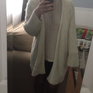 H&M Fuzzy Cream Cardigan