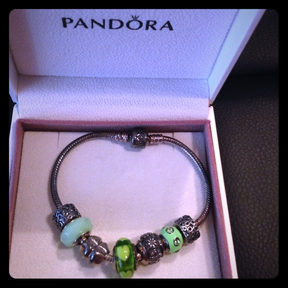 Pandora Jewelry - Pandora bracelet with charms