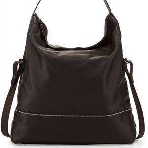 Brunello Cucinelli Brown Leather Hobo XBody Bag