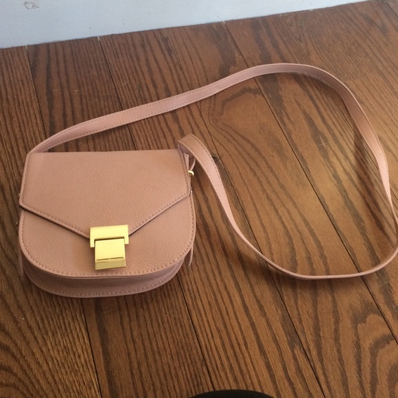Dark peach shoulder bag