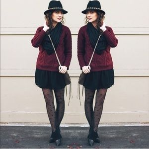 H&M Sweaters - Maroon Cable Knit Sweater