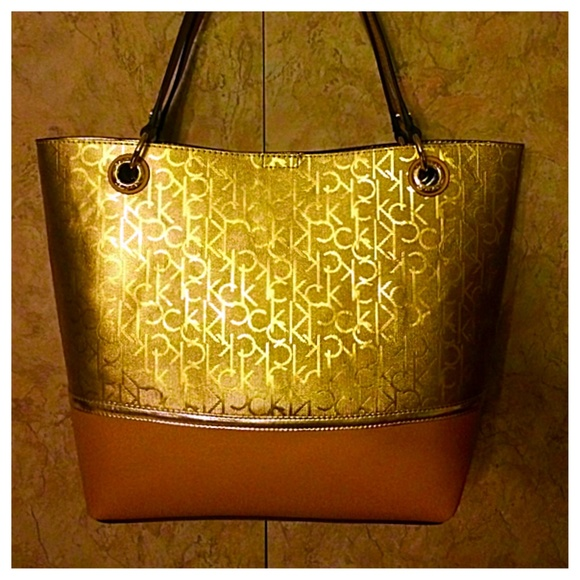 Calvin klein gold purse