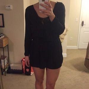 Zara Black Romper with Lace