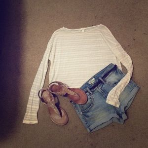 White cropped long sleeve