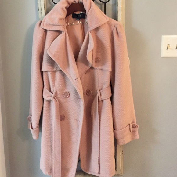 67% off Forever 21 Jackets & Blazers - Light pink pea coat from ...