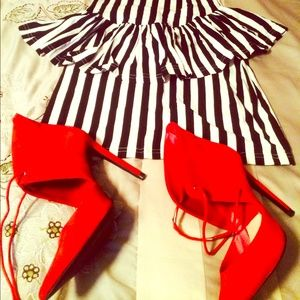 Zara shoes and a cute peplum  dress forever21