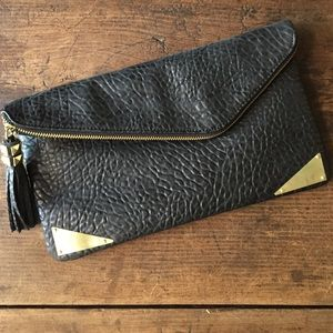 Steve Madden Clutches & Wallets - Black Pebbled Clutch