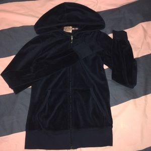 👑🎀Juicy Couture XS velour navy blue track jacket