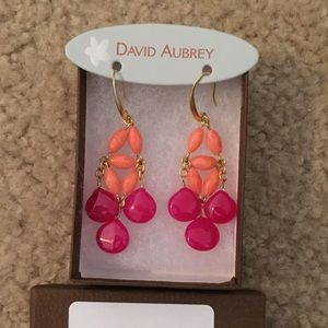 Orange & pink earrings